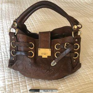 Authentic Jimmy Choo Brown/Gold Handbag